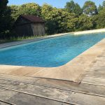 abords de piscine en bois